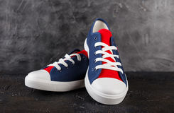Pair of new sneakers Royalty Free Stock Images