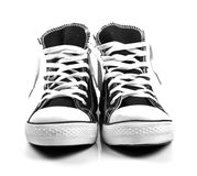A pair of new sneakers isolated on white Royalty Free Stock Photos