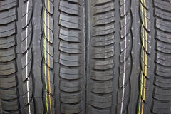 Pair of new summer car tires. Pair of new summer black car tires - grip Stock Photo