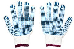 Pair of new work gloves Royalty Free Stock Image