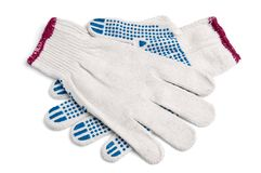 Pair of new work gloves Stock Photography