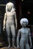 Pair of nude teenaged mannequins Stock Image