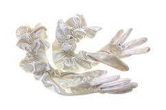 Pair Nylon Spandex Evening Gloves Stock Photo