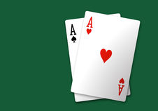 Free Pair Of Aces Stock Photos - 17716063