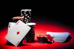 Pair Of Aces Poker Stock Image