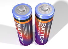 Free Pair Of Batteries Royalty Free Stock Photos - 7361998
