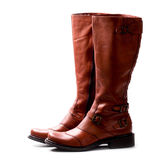 Pair Of Brown Boots Stock Image