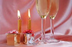 Pair Of Champagne Flutes Royalty Free Stock Photo