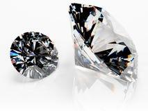 Pair Of Diamonds (no Catchlight) Royalty Free Stock Photo