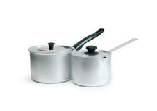 Pair Of Saucepans Royalty Free Stock Images