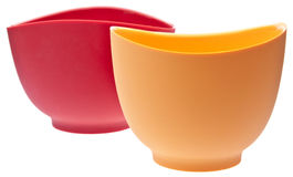 Pair Of Silicone Mixing Bowls Royalty Free Stock Photography