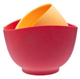 Pair Of Silicone Mixing Bowls Royalty Free Stock Photos