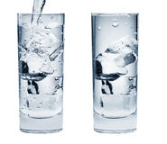 Pair Of Water Drink Glasses Royalty Free Stock Images