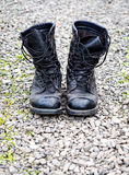 Pair of old army boots Royalty Free Stock Image