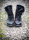 Pair of an old army boots Royalty Free Stock Image