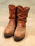 Pair of Old Boots. Old Work Boots Royalty Free Stock Image