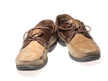 Pair of old brown shoes Royalty Free Stock Photo