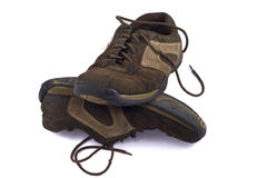 Pair of old dirty shoes Royalty Free Stock Image