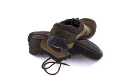 A pair of old dirty shoes Stock Image