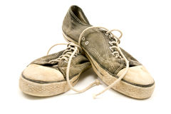 Pair of old and dirty sneakers Royalty Free Stock Images