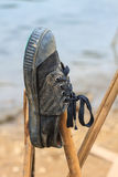 Pair old and dirty sneakers Royalty Free Stock Image