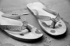 Old Flip-Flops Royalty Free Stock Photos