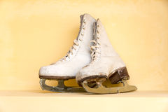 Pair of old ice Skates Stock Image