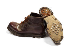 Pair of old leather shoes Royalty Free Stock Photography