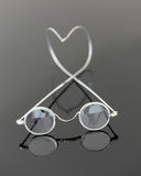 Pair of old magnifying reading glasses Royalty Free Stock Photography