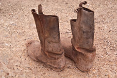 Old riding boots. Stock Photos