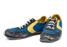 Pair of old shoes Stock Photography