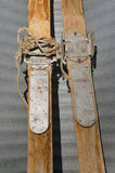 Pair of old skis Royalty Free Stock Photo
