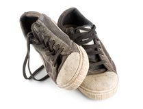 Pair old sneakers Stock Image