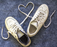 A pair of old sneakers Royalty Free Stock Images