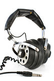 Pair of old sound headphones Royalty Free Stock Image