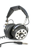 Pair of old sound headphones Stock Image