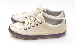 A pair of old sport shoes Stock Photography