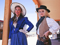A Pair of Old Tucson Frontier Women, Tucson, Arizona Royalty Free Stock Photo