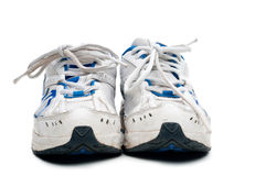 A pair of old worn athletic shoes Stock Images