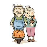 A pair of older gardeners Stock Photo