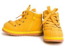 Pair of orange shoes Royalty Free Stock Photography