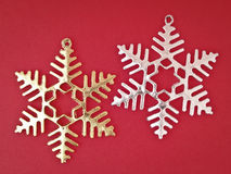 Pair ornament snowflake Stock Image