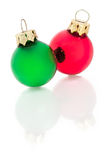 Pair of Ornaments on White - Vertical Stock Photography