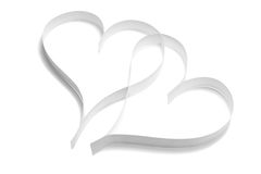 Pair of paper hearts Stock Image