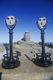 Pair of pay per view binoculars at rest stop in Mt. Washington, NH Royalty Free Stock Photography