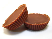 Pair of Peanut Butter Cups stock images