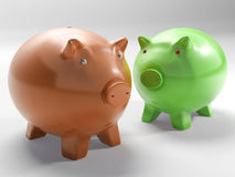 Pair Of Pigs Shows Investment And Security Stock Photography