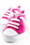 Pink baby shoes Stock Image