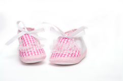 Pair of pink booties Stock Photo