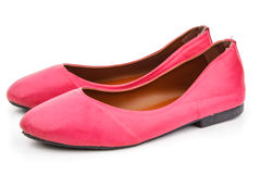 A pair of pink casual shoe Stock Image